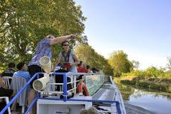 Statek wycieczkowy na kanale du Midi Zdjęcie Stock