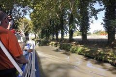 Statek wycieczkowy na kanale du Midi Obraz Stock