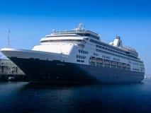 Statek wycieczkowy Ryndam przy quay port w San Diego Zdjęcia Stock