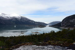 Statek wycieczkowy w fjord Pia fotografia royalty free