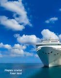 Statek wycieczkowy w otwartej wodzie - frontowy widok Obraz Royalty Free