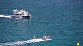 Statek z szkła dnem, Costa Brava Hiszpania zbiory