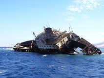 statek zapadnięty Fotografia Royalty Free