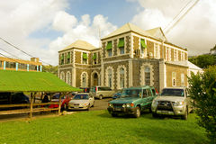 A stately courthouse in the caribbean Stock Photos