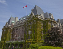 Stately Empress Hotel in Victoria, British Columbia Royalty Free Stock Photo