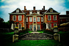 Stately English Home. With royal gardens royalty free stock photo