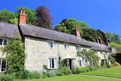 Stately gardens and cottages. Gardens and copttages in South West England royalty free stock photos
