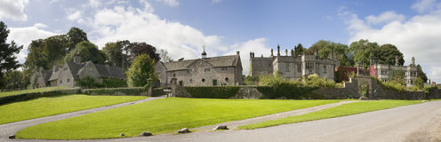 Stately home. The exterior of a Stately Home. Tissington hall, derbyshire royalty free stock photography