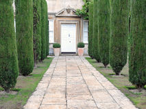 Stately Home. Garden Path Leading to a Stately Home stock image