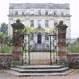 Stately Home. Exterior and Gates of a Stately Home royalty free stock photos