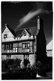 Stately home. Couple visiting an English stately home Warwickshire Midlands England Royalty Free Stock Images