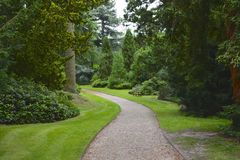 Stately home garden. English stately home garden in the summer Royalty Free Stock Images