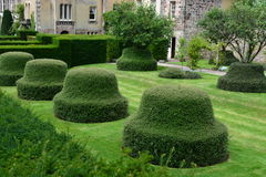 Stately home garden Royalty Free Stock Photos