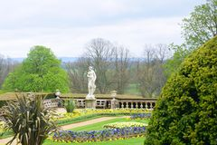 Stately home gardens. English Stately home formal gardens Stock Photography