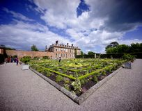 Stately home. Hanbury,hall,stately,home,mansion,country,house,gardens,parterre,wealth,wealthy,power,aristocracy,nobility,royal,family,national,trust Stock Images