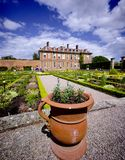 Stately home. Hanbury,hall,stately,home,mansion,country,house,gardens,parterre,wealth,wealthy,power,aristocracy,nobility,royal,family,national,trust Royalty Free Stock Photos