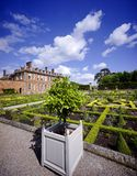 Stately home. Hanbury,hall,stately,home,mansion,country,house,gardens,parterre,wealth,wealthy,power,aristocracy,nobility,royal,family,national,trust Stock Photos