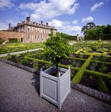 Stately home. Hanbury,hall,stately,home,mansion,country,house,gardens,parterre,wealth,wealthy,power,aristocracy,nobility,royal,family,national,trust Royalty Free Stock Photo