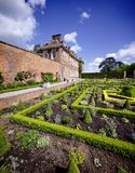 Stately home. Hanbury,hall,stately,home,mansion,country,house,gardens,parterre,wealth,wealthy,power,aristocracy,nobility,royal,family,national,trust Royalty Free Stock Photography