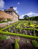 Stately home. Hanbury,hall,stately,home,mansion,country,house,gardens,parterre,wealth,wealthy,power,aristocracy,nobility,royal,family,national,trust Stock Photography