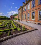 Stately home. Hanbury,hall,stately,home,mansion,country,house,gardens,parterre,wealth,wealthy,power,aristocracy,nobility,royal,family,national,trust Royalty Free Stock Images