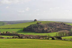 Stately home on hill. A view of a stately home on hilltop Stock Photo