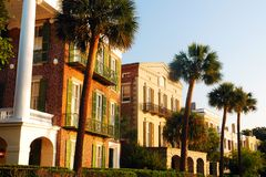 Stately homes in Charleston, South Carolina. Stately homes along East Battery Street, on Charleston, South Carolina`s Waterfront stock image