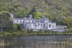 Stately Kylemore Abbey, near Connemara National Park. County Galway, Ireland royalty free stock images