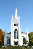 Stately New England Church. A stately white New England Church during Fall foliage season Stock Photography