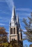 Church Spires Holy Rosary Cathedral Regina Saskatchewan Royalty Free Stock Photography