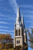 Church Spires Holy Rosary Cathedral Regina Saskatchewan Stock Images