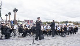 Statement by the Central Band of the Navy of the Rimsky-Korsako Royalty Free Stock Photos
