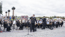 Statement by the Central Band of the Navy of the Rimsky-Korsakov Stock Images