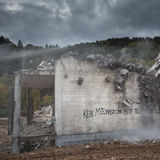 statement on destroyed building in Germany Stock Photography