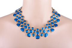 Statement necklace on a mannequin Royalty Free Stock Photo