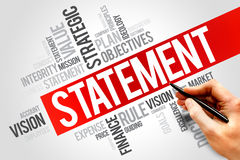 Statement. Word cloud, business concept Stock Photo