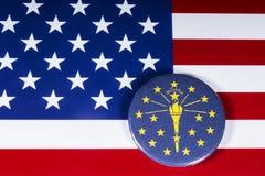 Staten av Indiana i USA arkivfoton