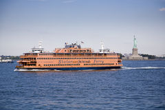 Staten Ferry and Liberty Royalty Free Stock Images