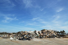 Piles of debris were not removed more than 5 months after Hurricane Sandy in Midland Beach, Staten Island Stock Images