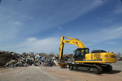 Piles of debris were not removed more than 5 months after Hurricane Sandy in Midland Beach, Staten Island Royalty Free Stock Photo