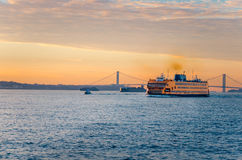 Staten Island Ferry at Dawn Stock Photo