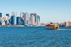 Staten Island Ferry, de Stad van New York, de V.S. Royalty-vrije Stock Afbeeldingen