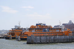 Staten Island Ferry docked at  St  George Ferry Terminal on Staten Island Stock Photos