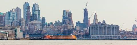 Staten Island Ferry in Lower Manhattan Royalty Free Stock Photos