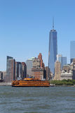 Staten Island Ferry in New York Harbor Stock Photography