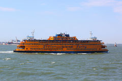 Staten Island Ferry in New York Harbor Stock Image