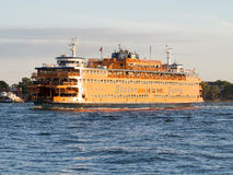 The Staten Island Ferry on the New York harbor Royalty Free Stock Photography