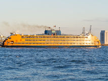 The Staten Island Ferry on the New York harbor Royalty Free Stock Images