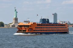 Staten Island Ferry, NYC. Staten Island Ferry on August 27, 2017 in New York City, NY. Staten Island Ferry is a passenger ferry service operated by New York City royalty free stock images