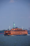 Staten Island Ferry and Statue of Liberty Royalty Free Stock Photo